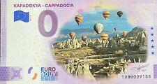 BILLET 0  EURO KAPADOKYA  ANNIVERSARY TURQUIE COULEUR 2021 NUMERO DIVERS