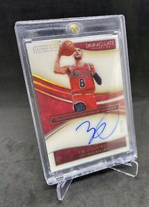 2019-20 Immaculate Zach Lavine Moments Auto 82/99 Chicago Bulls NBA /Not RC 📈🔥
