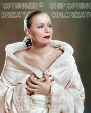GRETA GARBO IN A LIGHT PINK COAT BEAUTIFUL COLOR PHOTO BY CHIP SPRINGER