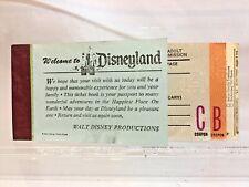 Disneyland Adult Ticket Book 1974 13 Ticket Book  C & B Tickets Only