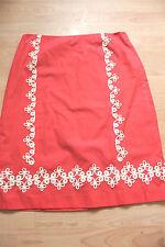 BODEN spice seville APPLIQUE TRIM cotton skirt size  12L  NEW   WG441