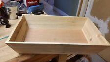 Wooden Plain Serving Decorative Tray/Kitchen Fruit Bread Rectangular Basket box