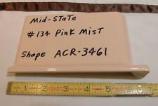"1 pc. Glossy *Pink Mist* 4"" X 6"" Ceramic Cove Base Outside Corner Tile-stack top"