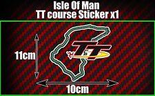 Isla De Man TT Carreras curso Decal Sticker, MANX GP Moto Bicicleta de Carretera Carreras Coche Furgoneta