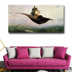 Prince Ivan On The magic Carpet Wall Art Canvas Prints Russian Famous Paintings
