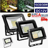 12V LED Flood Light 10W/30W Outdoor Garden Security Spotlight Warm/Cool Lamp USA