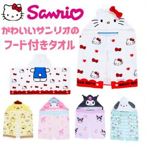 Sanrio Hooded Towel 100% Cotton Approx. 110 x 50 cm Free Shipping T/N