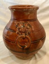 Antique 18th/19th Century Copy of Han Dynasty Style Ceramic Faux Bronze Vase