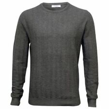 Cotton Patternless Grey Jumpers & Cardigans for Men