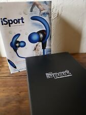 Monster iSport Immersion In-Ear Waterproof Headphones with ControlTalk-Blue-NEW