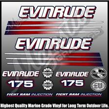EVINRUDE 175 hp - BOMBADIER - BLUE MOTOR - OUTBOARD DECALS