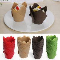 50X Baking Paper Muffin Cup Solid Color Cupcake Wrapper Liners  Case Cake