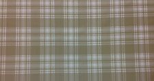 """LASALLE PLAID TAUPE BEIGE CHECKER UPHOLSTERY FURNITURE FABRIC BY THE YARD 57""""W"""