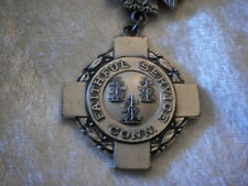 Scarce Vintage Sterling Silver Connecticut National Guard Faithful Service Medal