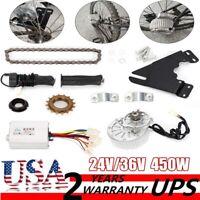 24V/36V 450W Electric Left Chain Drive Conversion Kit Ebike Conversion Kit USA