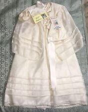 Vintage Maraly Baptism Christening Outfit Gown Mexico Shoes Bonnet Cape Bautizo