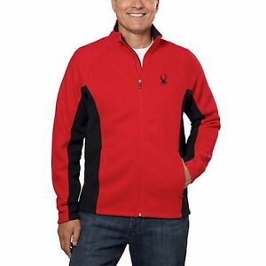 NWT Mens Red Spyder Constant Full Zip Mid weight core sweater $149  Size Large