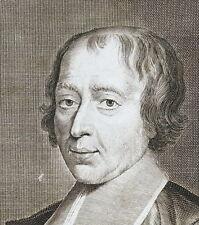 Portrait Louis-Sébastien Le Nain de Tillemont par  Edelinck J D'aLe feure c 1700