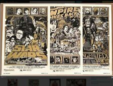 Tyler Stout Star Wars Trilogy VaRiAnT screen print set AP #25/25 mondo signature