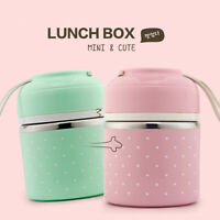Cute Thermal Lunch Box Leakproof Stainless Steel Bento Box Picnic Food Container