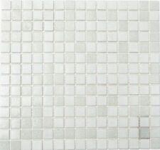 Mosaïque carreau verre blanc cuisine bain sol douche mur 52-0103_f | 10 plaques