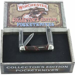 Winchester Brown Checkered Bone Collectors Edition Whittler Pocket Knife 29046C