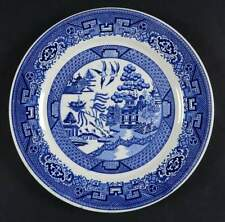 """Lot of 2 VTG Homer Laughlin BLUE WILLOW 9 1/8"""" Luncheon Plate F 43 N 6 Made USA"""