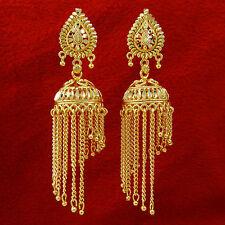 Ethnic Indian Goldplated Jhumka Jhumki Women Wedding Chandelier Earrings Jewelry