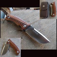 FOX KNIVES PRO HUNTER JAGDMESSER  Einhandmesser Wüsteneisenholz  ETUI - 222912