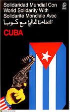 Political Cuban POSTER.Cuba Anti-Imperialism.Castro Cold War History art.am30