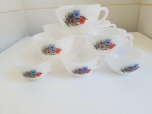 12 Tasses à café Arcopal Vintage décor Volubilis