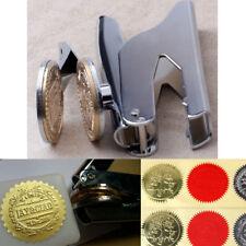 Custom Design Personalized LOGO Embosser Seal Stamp Desktop Wedding Sealing