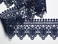 """Dark Navy Blue Soft Stretch Lace Trim 2.75/""""//cm Sewing TOP SELLER 5 METRES"""