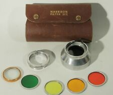 New listing Vintage Harrison Glass Filter Set In Leather Case With 50Mm Adapter 30Mm Filters