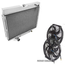 Big Block 1968-1969 Ford Torino 4 Row Aluminum CHAMPION Radiator & Fans
