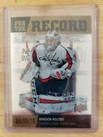 2019-20 Upper Deck Allure FOR THE RECORD Braden Holtby Washington Capitals #FR-4