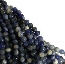 Sodalite 6mm Natural Gemstone Rondelle Beads 15 Inch Loose