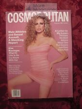 COSMOPPOLITAN February 1991 KIM BASINGER ANTHONY HOPKINS LENA OLIN
