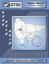 ATSG Dodge Jeep A500 A518 A618 44RH 46RH 47RH Rebuild Transmission Tech Manual