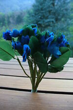 Neuf ! Décoration mariage fête cérémonie ! Bouquet de 20 petites roses bleues