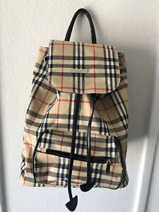 BURBERRY London BLUE LABEL Nova Tan Check Purse Tote Backpack Bucket Pulls