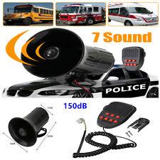 7 Sounds Loud Car Warning Alarm Police Fire Siren Horn Speaker System Univversal