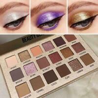 Beauty Glazed Makeup Palette Cosmetic Gloss Pigment-Smoky 18 Col Eye-Shadow U7G1
