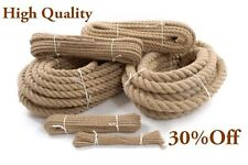 12 Meters Natural Jute Rope 24mm Twisted Decking Cord Garden Boating Sash Campin