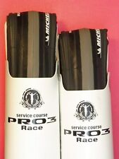Two - Michelin Pro 3 Race ( Grey / bk. 700 - 23) tyres / NOS