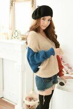Women Loose Knit Long Sleeve Sweater Batwing Sleeve Jumper Knitwear Pullover
