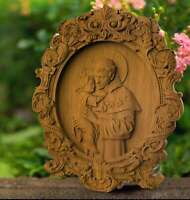 Saint Anthony WOOD CARVED CHRISTIAN ICON RELIGIOUS VIRGIN MARY WALL ART
