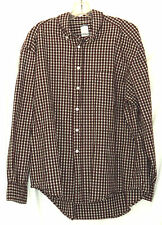 Old Navy Red Plaid Shirt Mens Long Sleeve Button Down