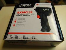 """Sunex 1/2"""" Super Duty Mini Air Impact Wrench Compact with Grip 500 FT LBS SXMC12"""