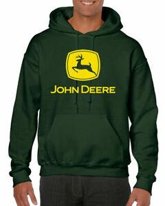 John Deere Hoodie Inspired Tractor Enthusiast Farming Unisex Adults Hooded Top